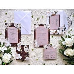 Zaproszenia ślubne biała Magnolia ZR86