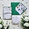 Zaproszenia ślubne białe Magnolie ZR84