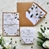 Zaproszenia ślubne rustykalne Magnolie ZR84