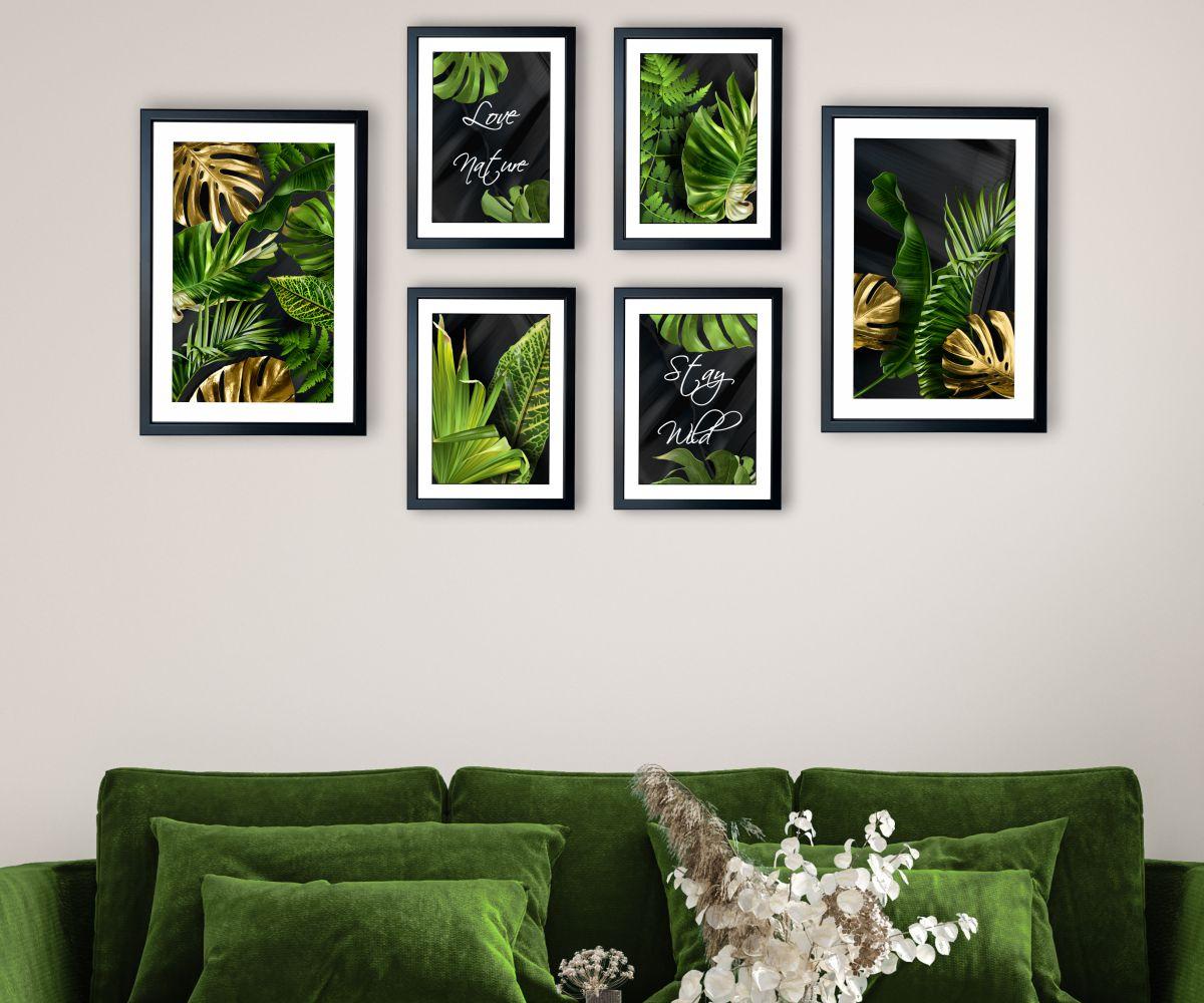 galeria tropical monstera w salonie