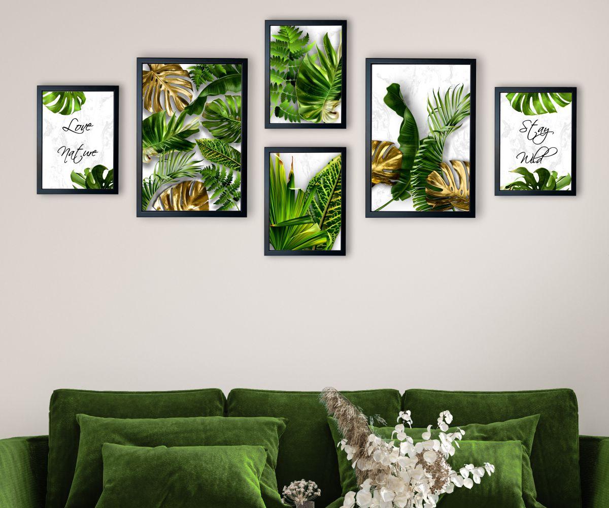 galeria tropical monstera jasna zbliżenie
