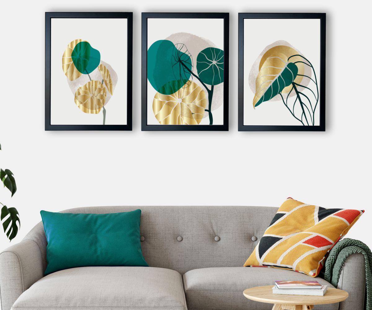 abstrakcja 2 nad kanapą