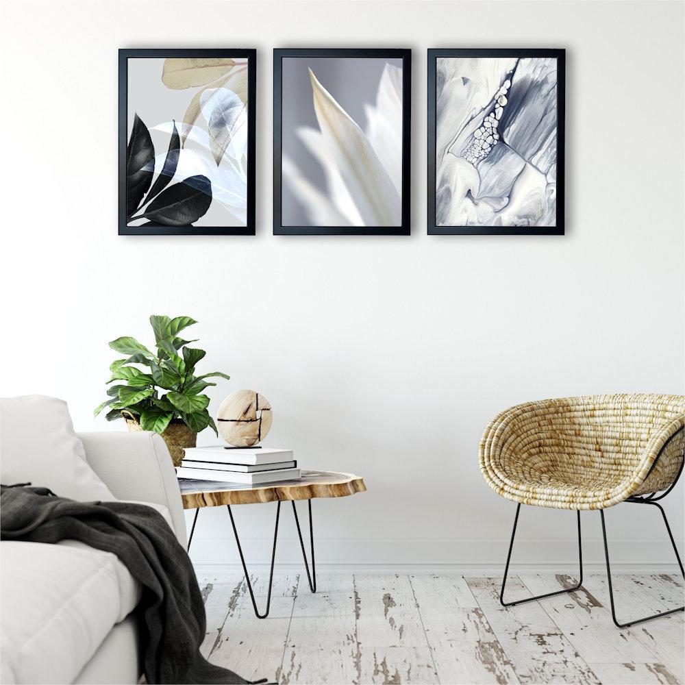 Obraz biały kwiat na ścianie