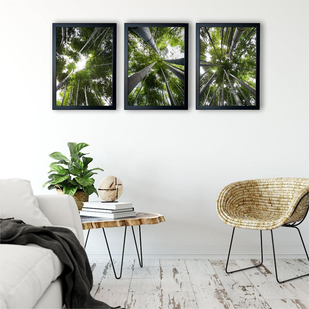 Obraz las bambusowy na ścianie