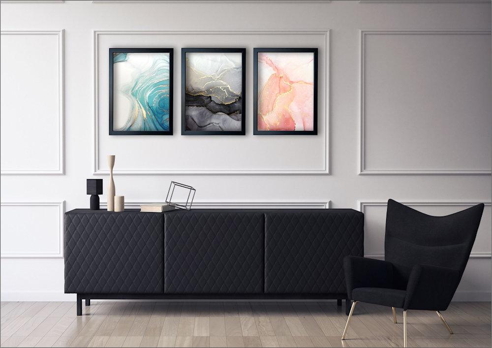 marmurowa abstrakcja w salonie