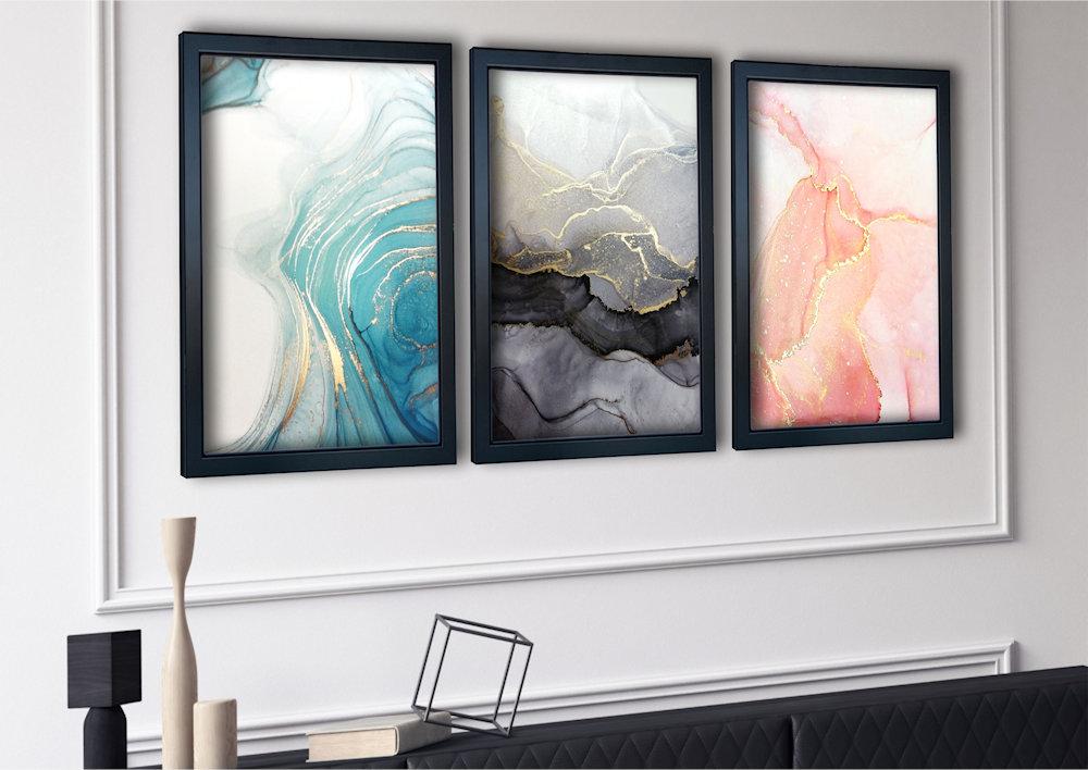 marmurowa abstrakcjaw salonie zbliżenie