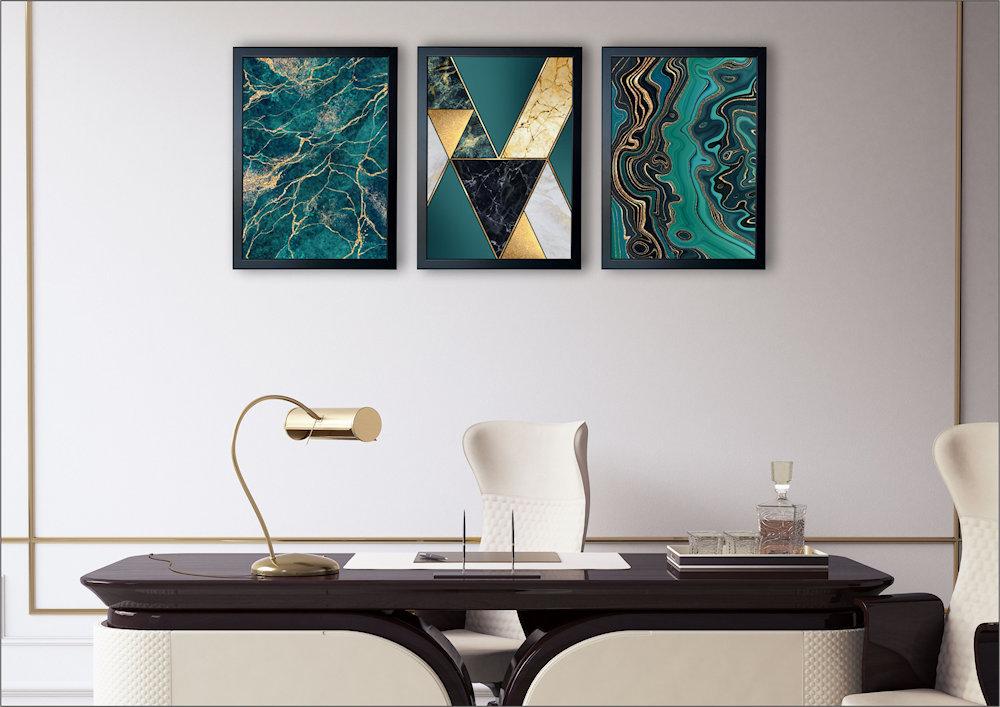marmury turkusowe  w salonie