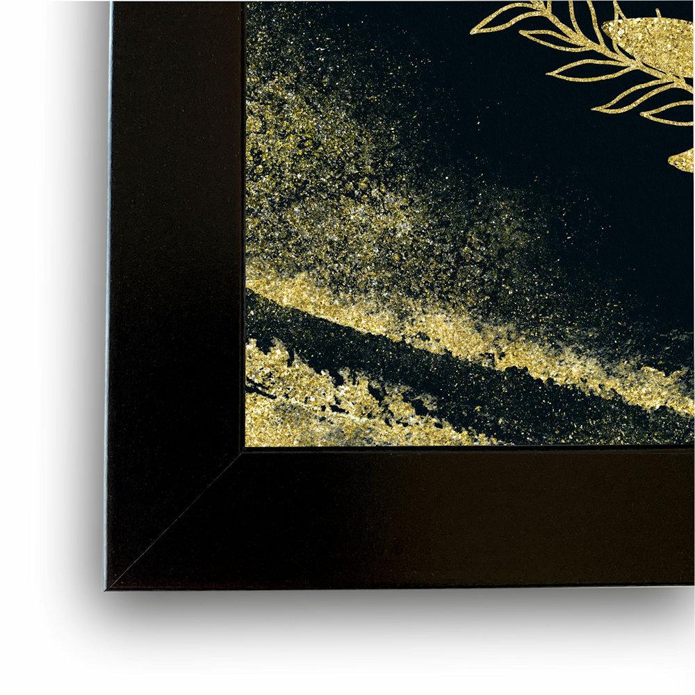 Obraz rośliny i złoty piasek zbliżenie