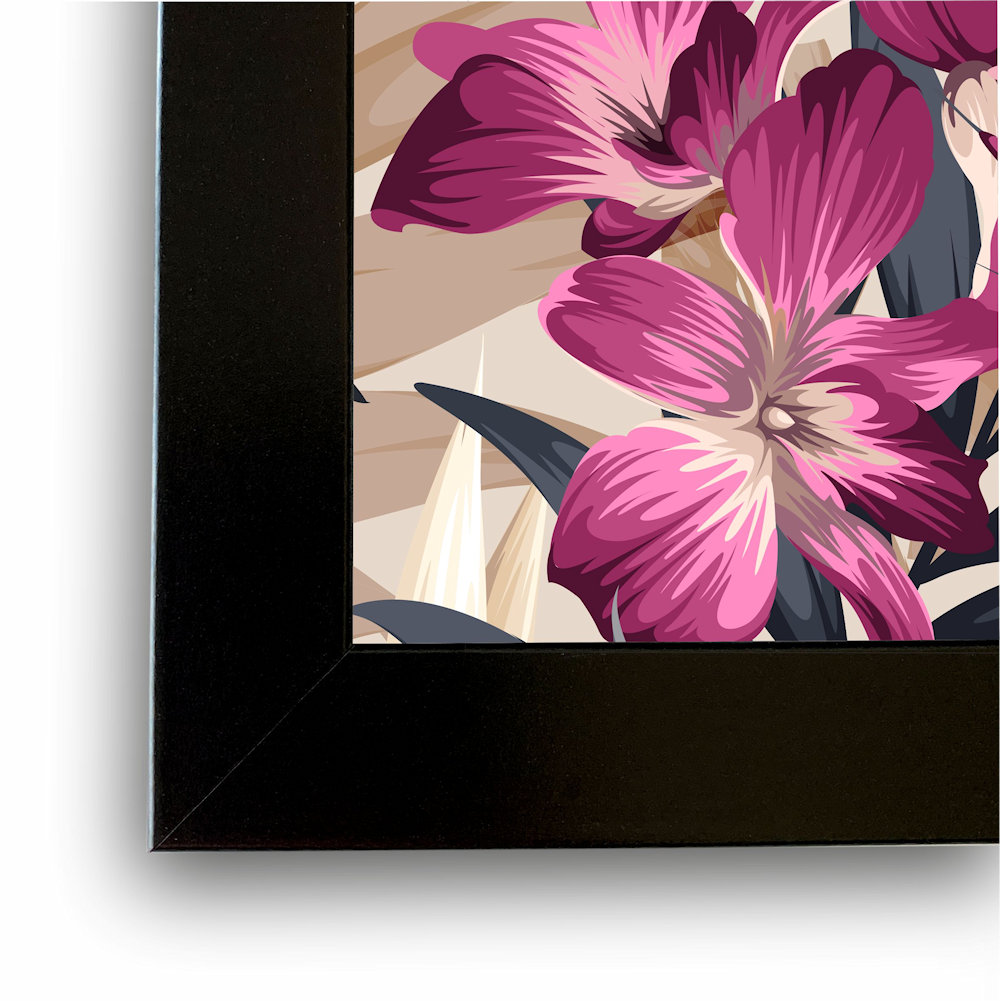różowa orchidea rama