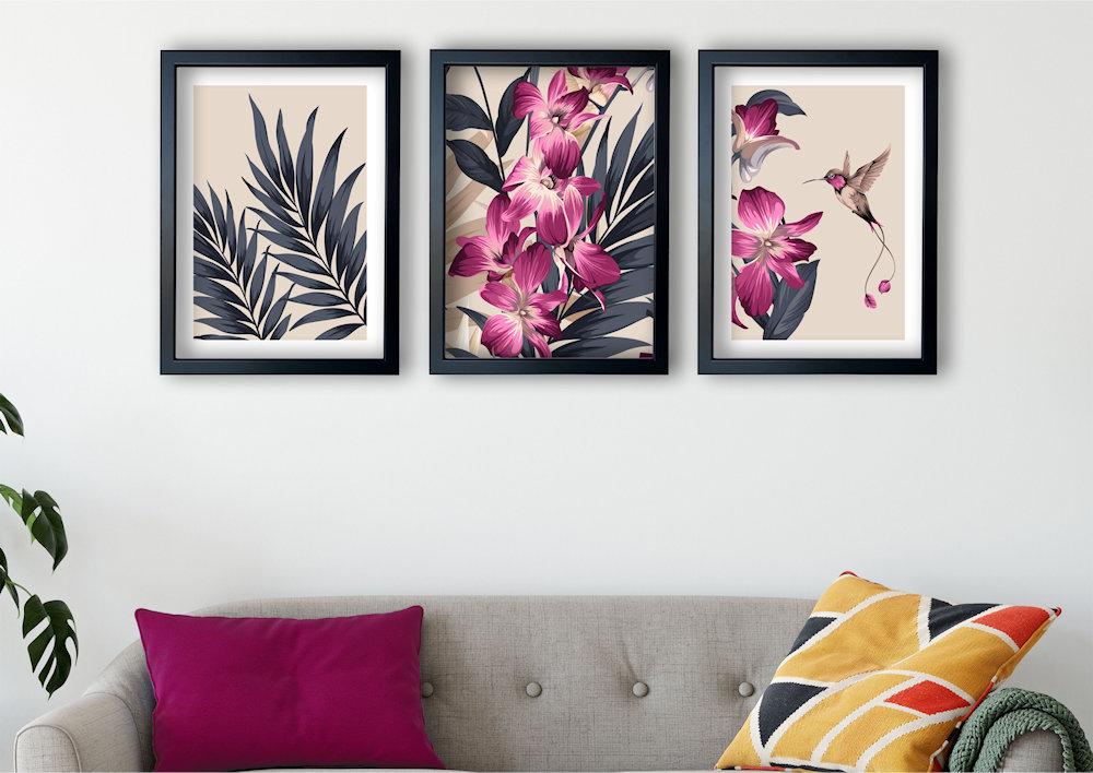 różowa orchidea w salonie
