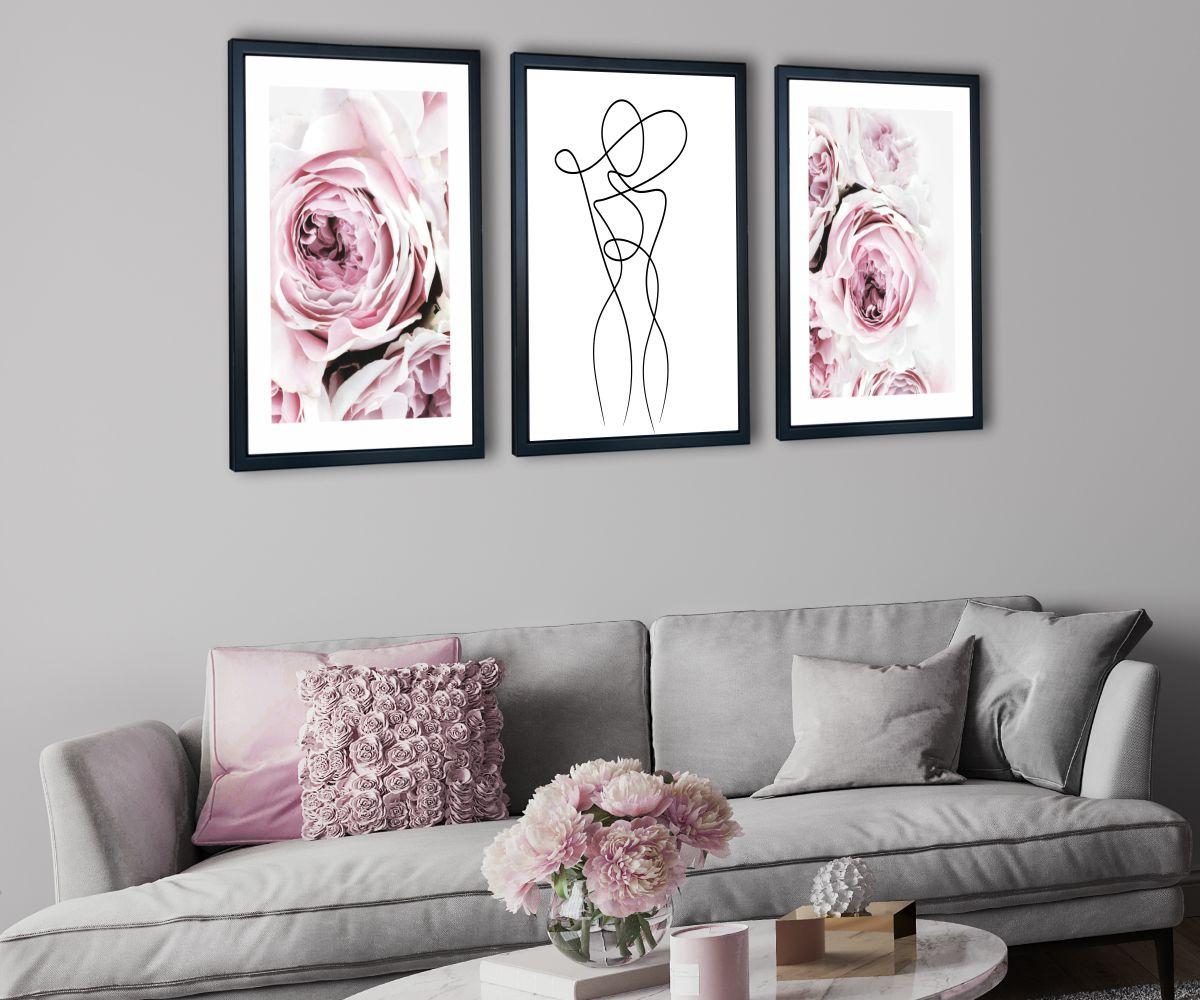 różowe peonie pod kątem