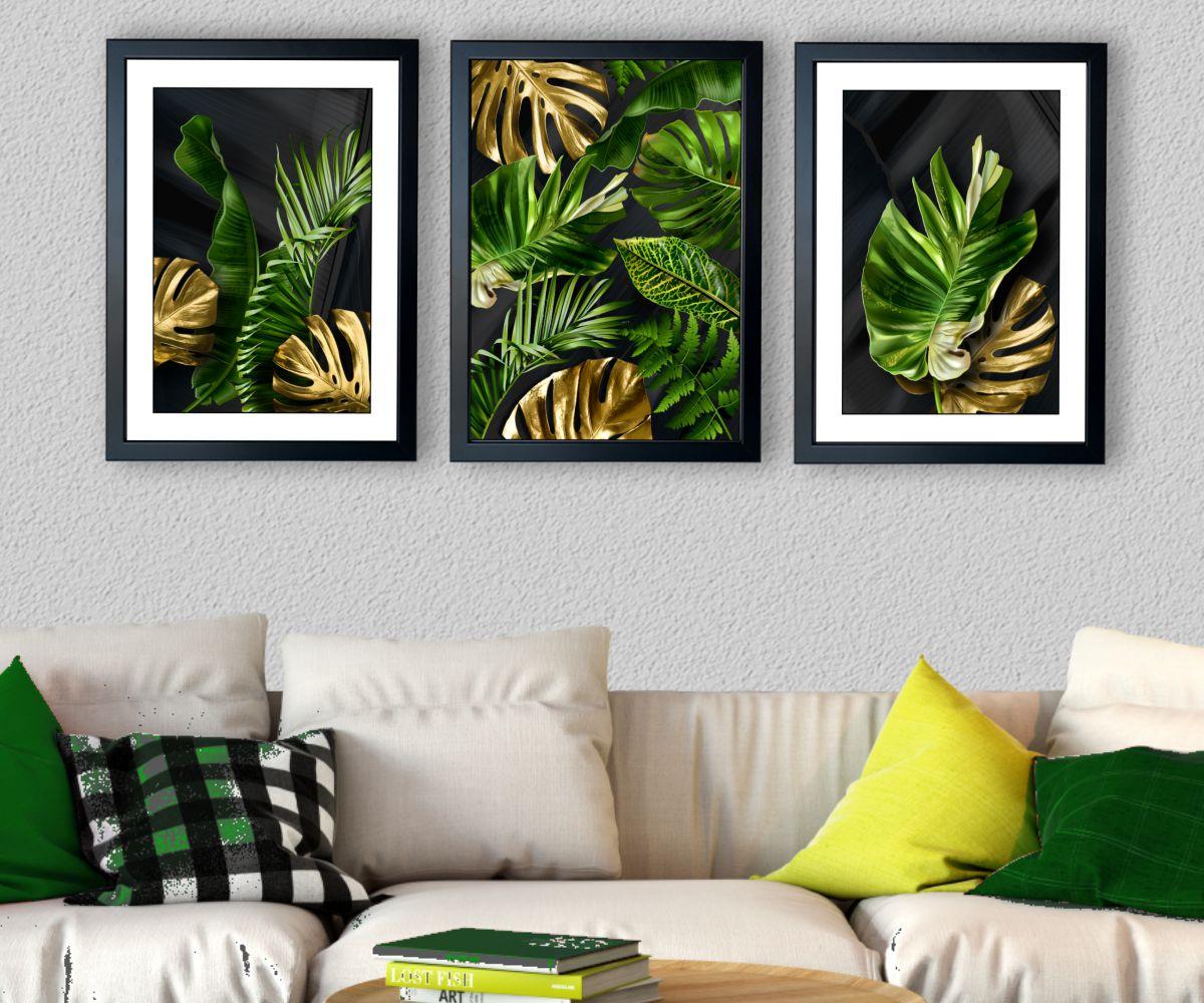 tropical monstera I w salonie