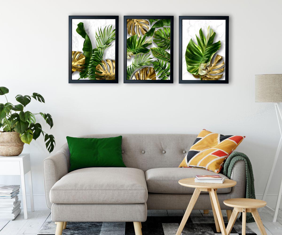 tropical monsteraI nad kanapą