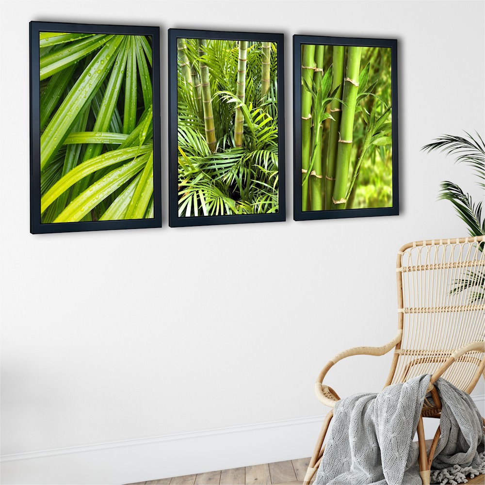 zielone bambusy pod kątem