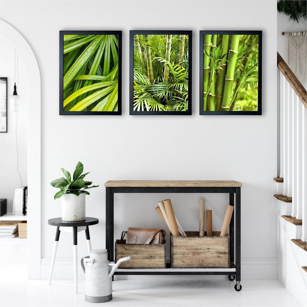 zielone bambusyw salonie