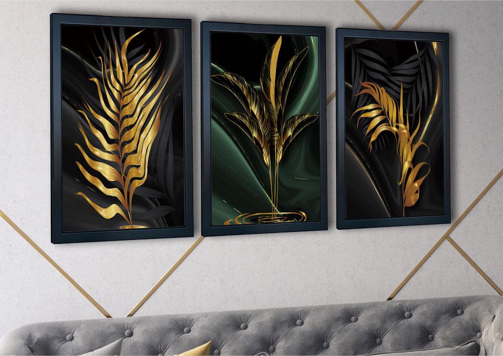 złote liście zbliżenie